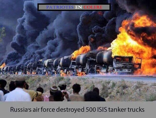 Russia's air force destroyed 500 ISIS tanker truck