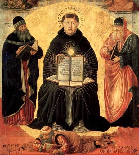 São Tomás de Aquino, apoiado em Platão e Aristóteles, esmaga Averroes, 'sábio' maometano