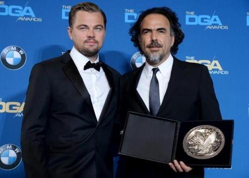 DiCaprio-e-Alejandro-Inarritu-alla-premiazione-dei