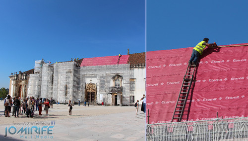 Obras no telhado da Universidade de Coimbra sem segurança [en] Works on the roof of the University of Coimbra unsafe