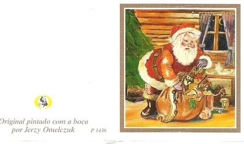 Resultado de imagem para postais de natal de pintores que pintam com o pé