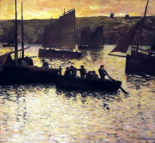 Charles Cottet - In the Port, 1895