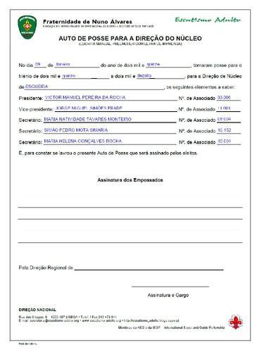 FNA - Eleição da Direcção de Núcleo 2015-2018
