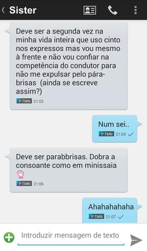 SMS Parabbrisas - Maria das Palavras