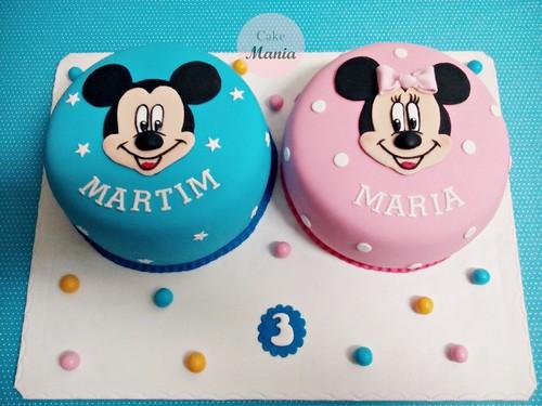 Bolos Mickey e Minnie gémeos.jpg