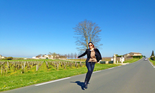Em direção ao Château Soutard