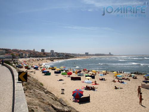 Praia de Buarcos num dia de verão. Buarcos Beach on a summer day