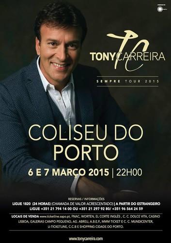 Concertos no Porto do Tony Carreira em Março de 2015