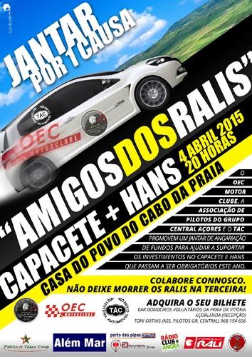 Cartaz Jantar Amigos dos Ralis - Capacete + HANS.j