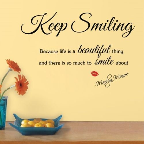 Details-about-font-b-Quote-b-font-Keep-Smiling-fon