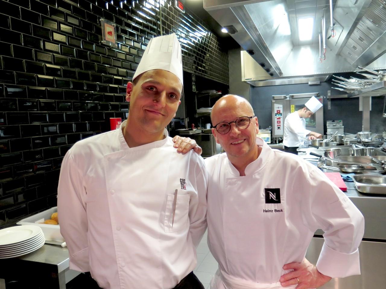 Chef pasteleiro Giacomo Troisi e Heinz Beck