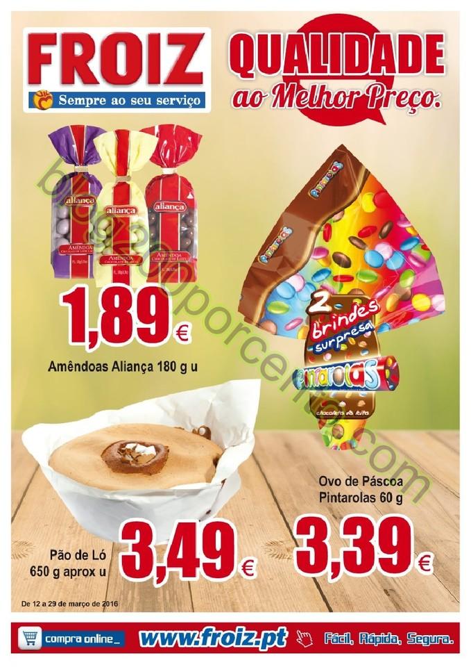 Novo Folheto FROIZ Promoções até 29 março p1.j
