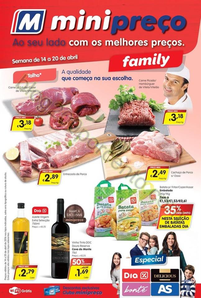 Antevisão Folheto MINIPREÇO Family de 14 a 20 ab