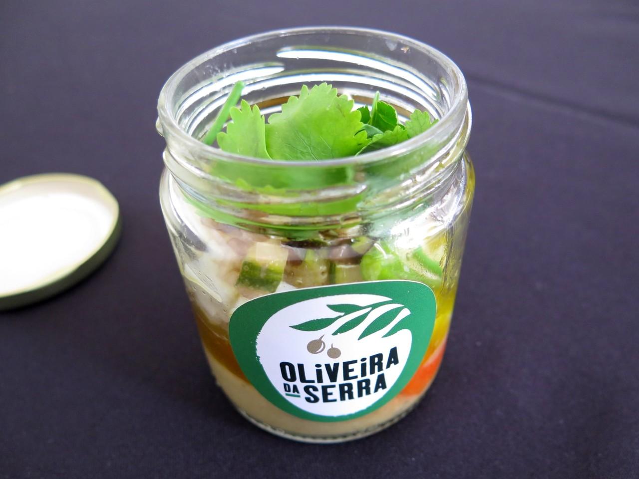 Choco em Salada de Legumes Assados