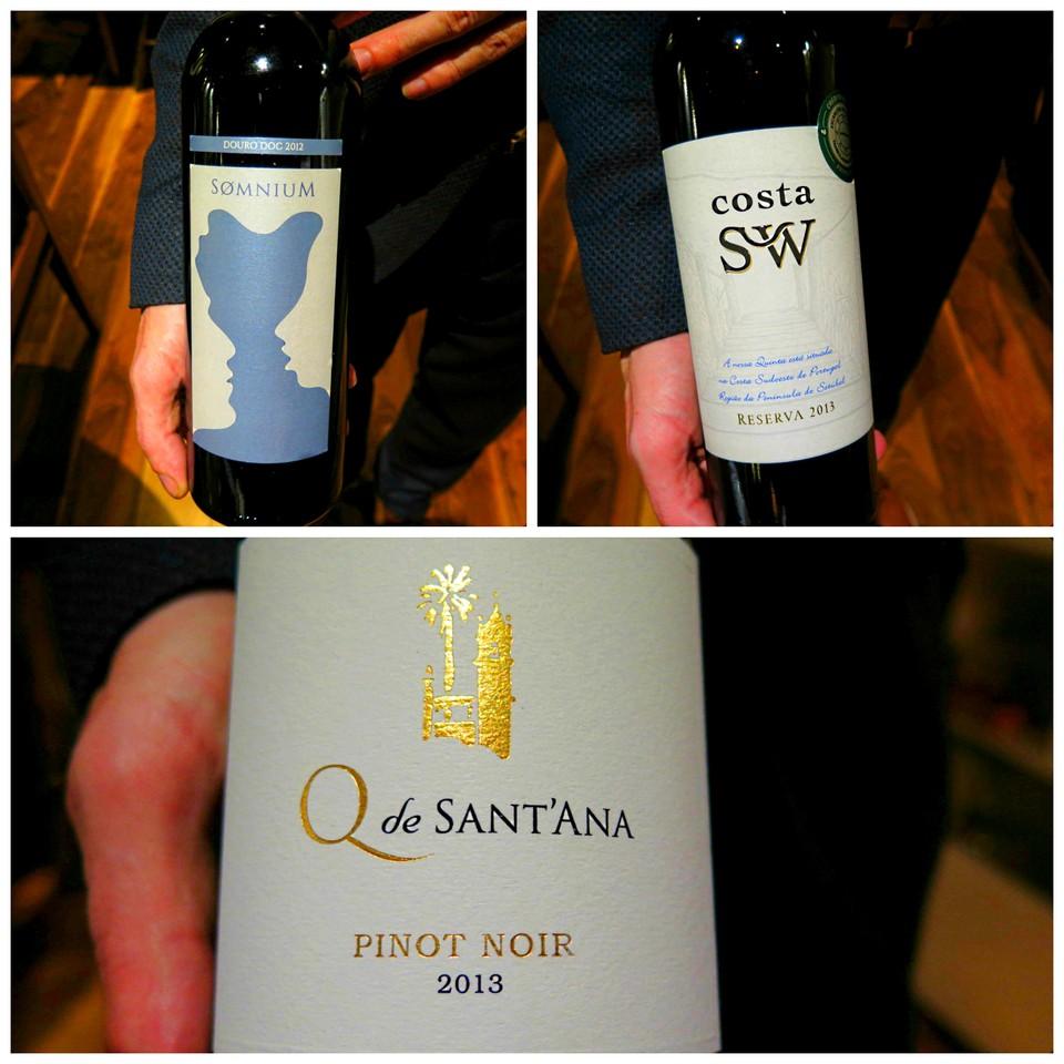 Somnium branco 2012 / Costa SW Reserva branco 2013 / Quinta de Sant'Ana Pinot Noir tinto 2013