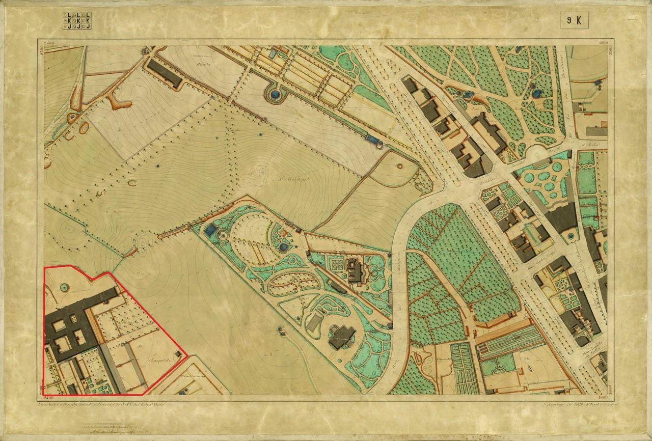 Planta Topográfica de Lisboa 9 K, 1909, de Albert
