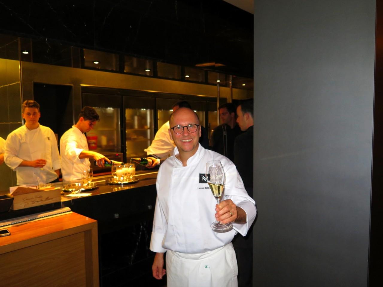 Um brinde à vinda de Heinz Beck a Portugal