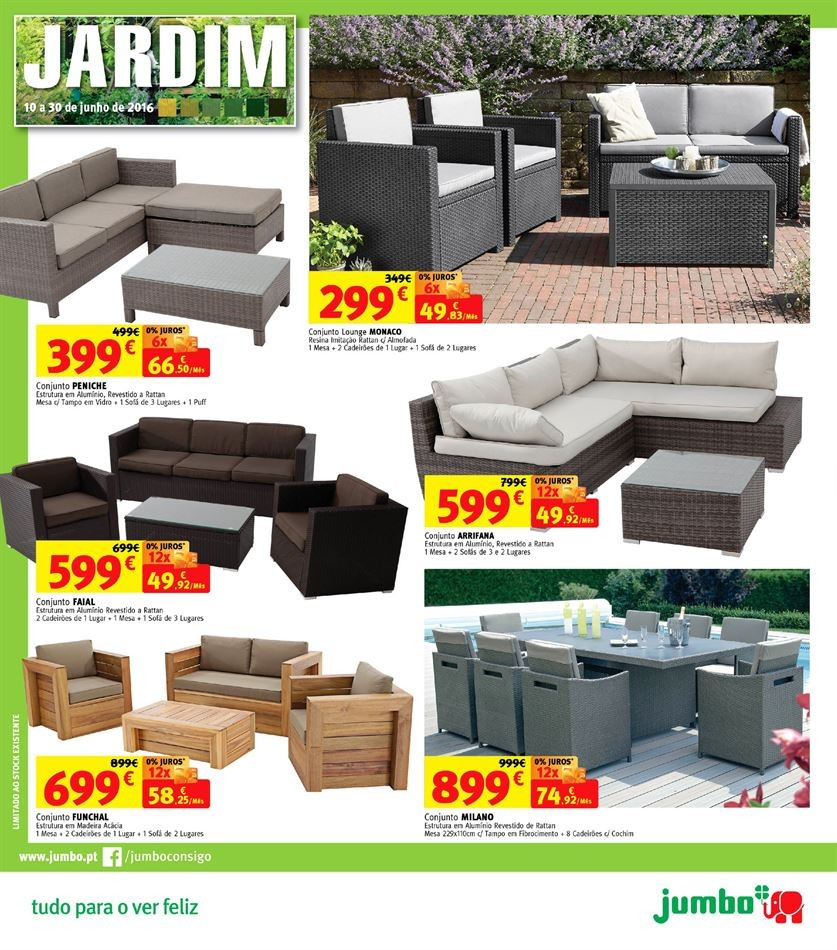mobiliario jardim jumbo:Promoções Jumbo – Antevisão Folheto EXTRA de 10 a 30 junho