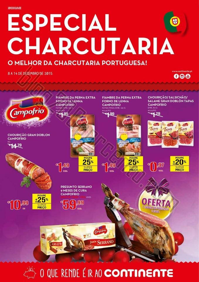 Antevisão Folheto CONTINENTE Especial Charcutaria
