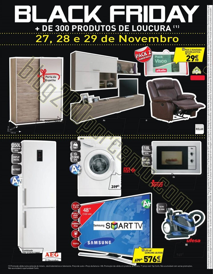 Antevis o black friday conforama promo es de 27 a 29 for Conforama black friday