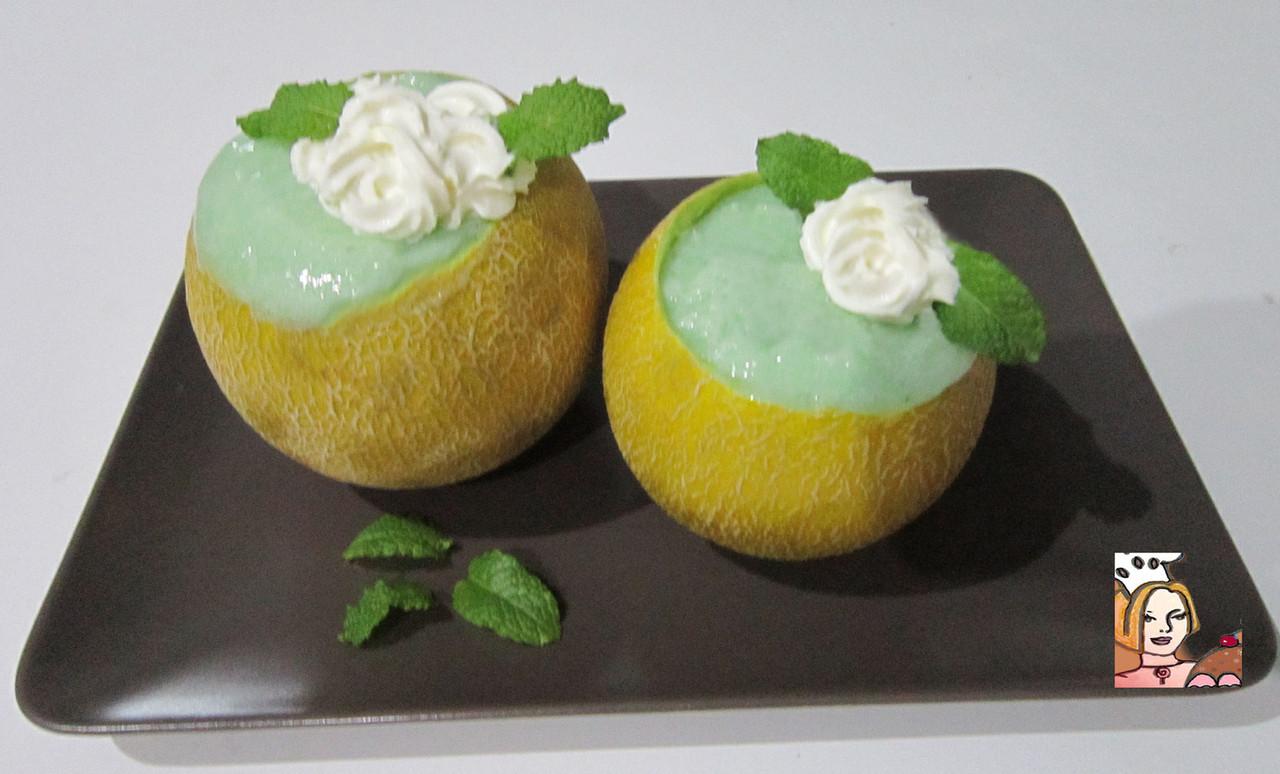 Mousse de meloa deliciosa