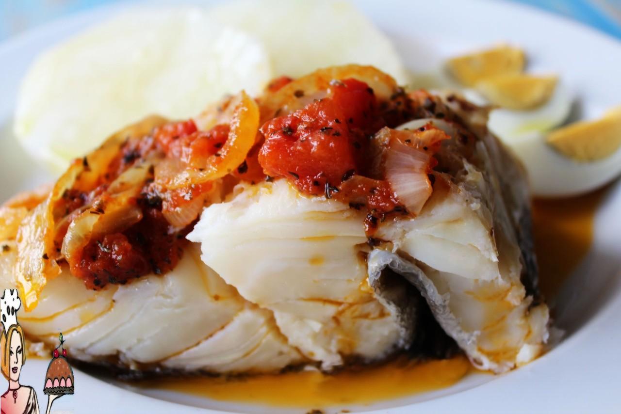 Bacalhau com molho vermelho 2