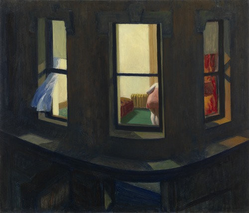 Night Windows, 1928, Oil on canvas by Edward Hoppe