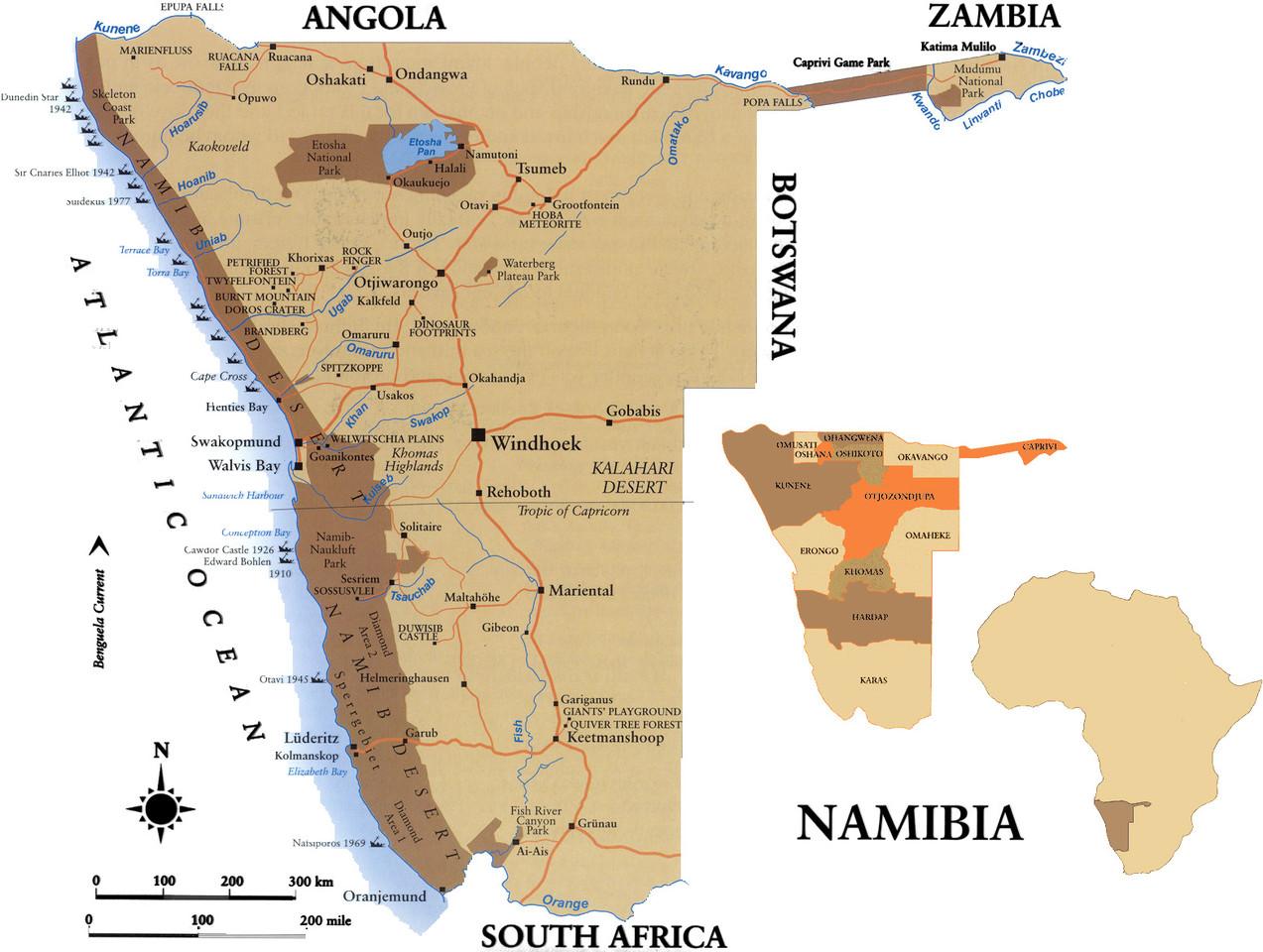 Mapa Namíbia2