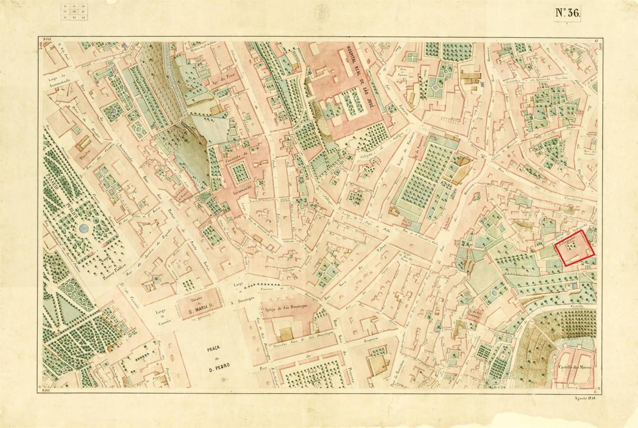 Atlas da carta topográfica de Lisboa n 36, 18.. F