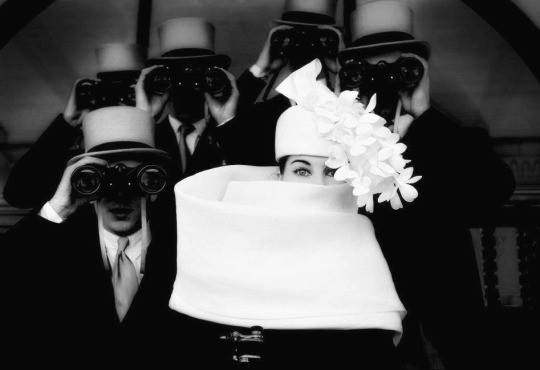 Givenchy Hat, a photo by Frank Horvat, Paris, 1958