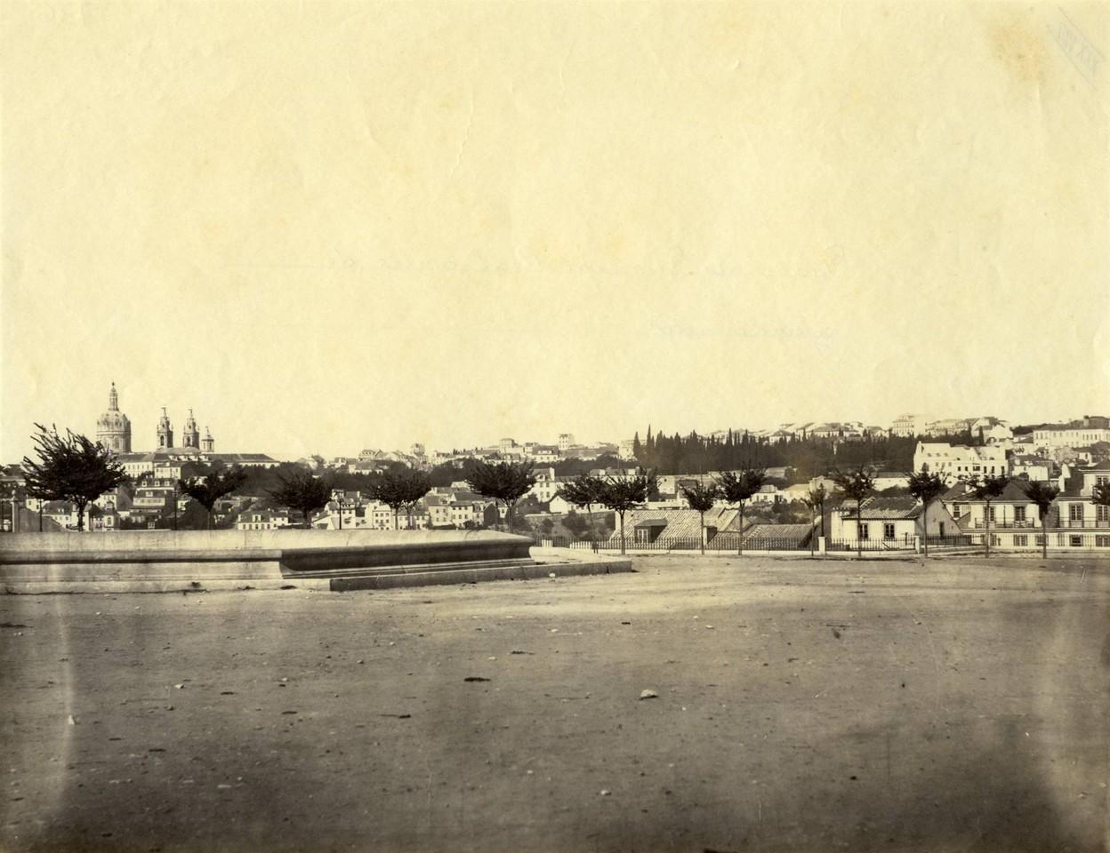Praça do Principe Real antes do ajardinamento,fot