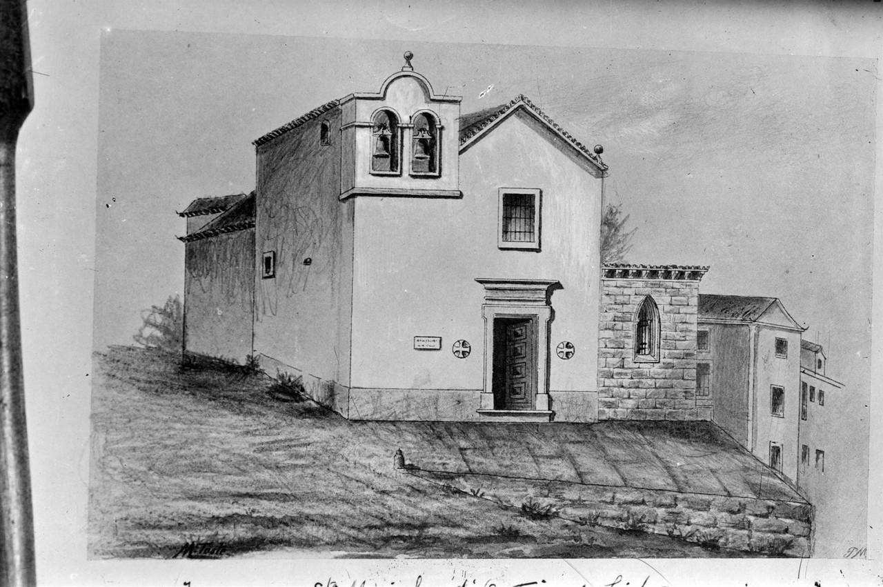 Igreja de Santa Marinha, desenho da autoria de Gon