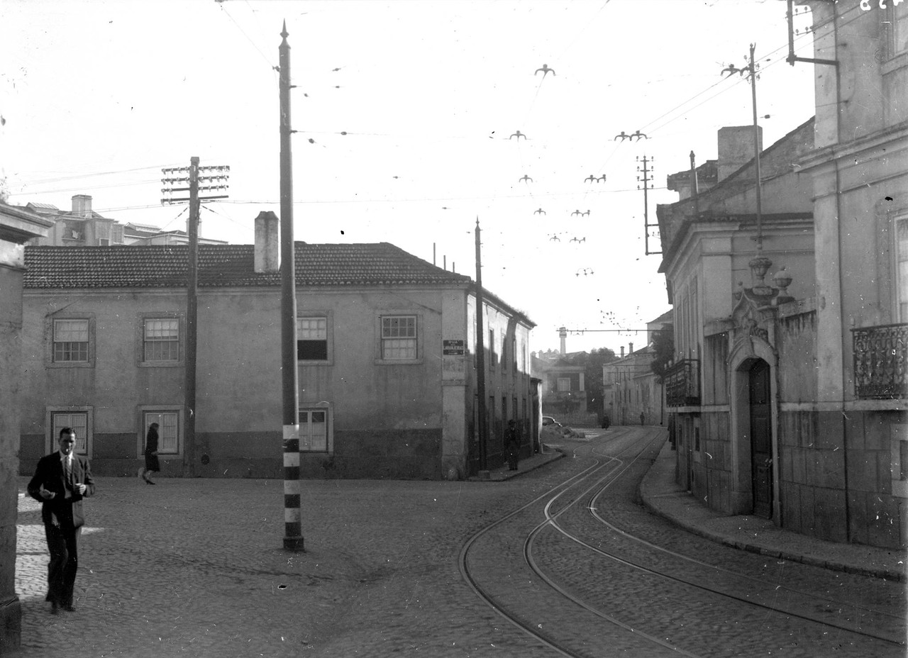 Estrada e Rua das Laranjeiras, Lisboa (E. Portugal, 1944)