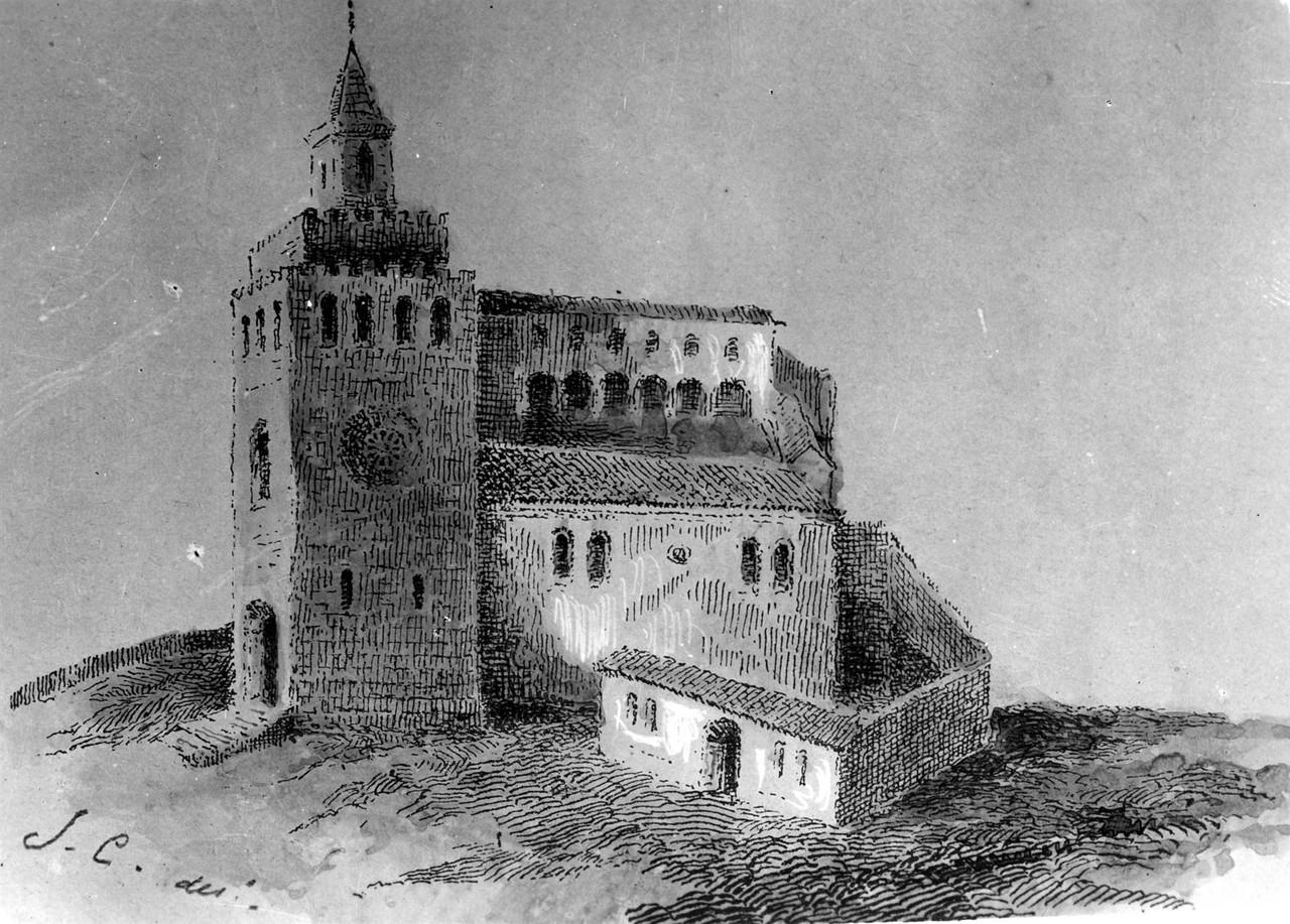 Desenho do Mosteiro de São Vicente de Fora, anter