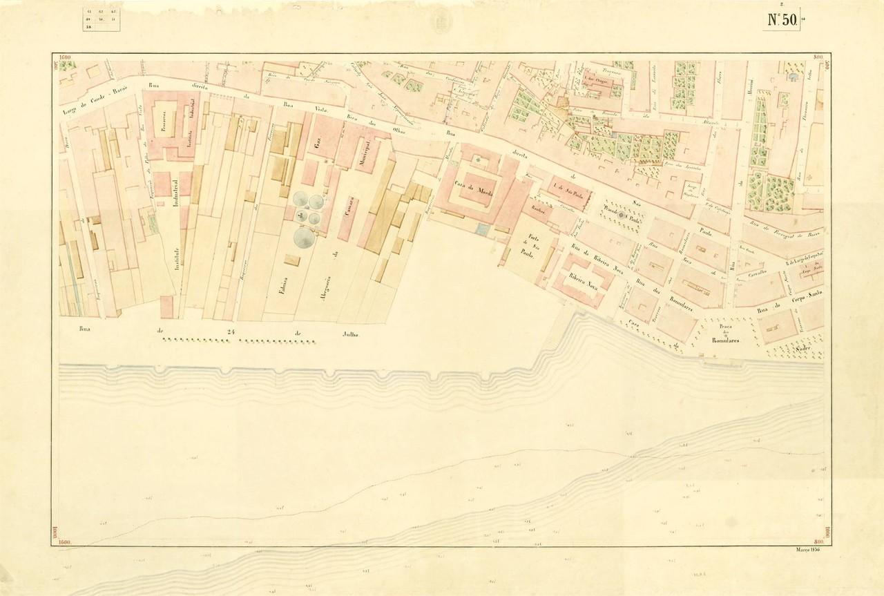Atlas da carta topográfica de Lisboa n. 50 Filipe