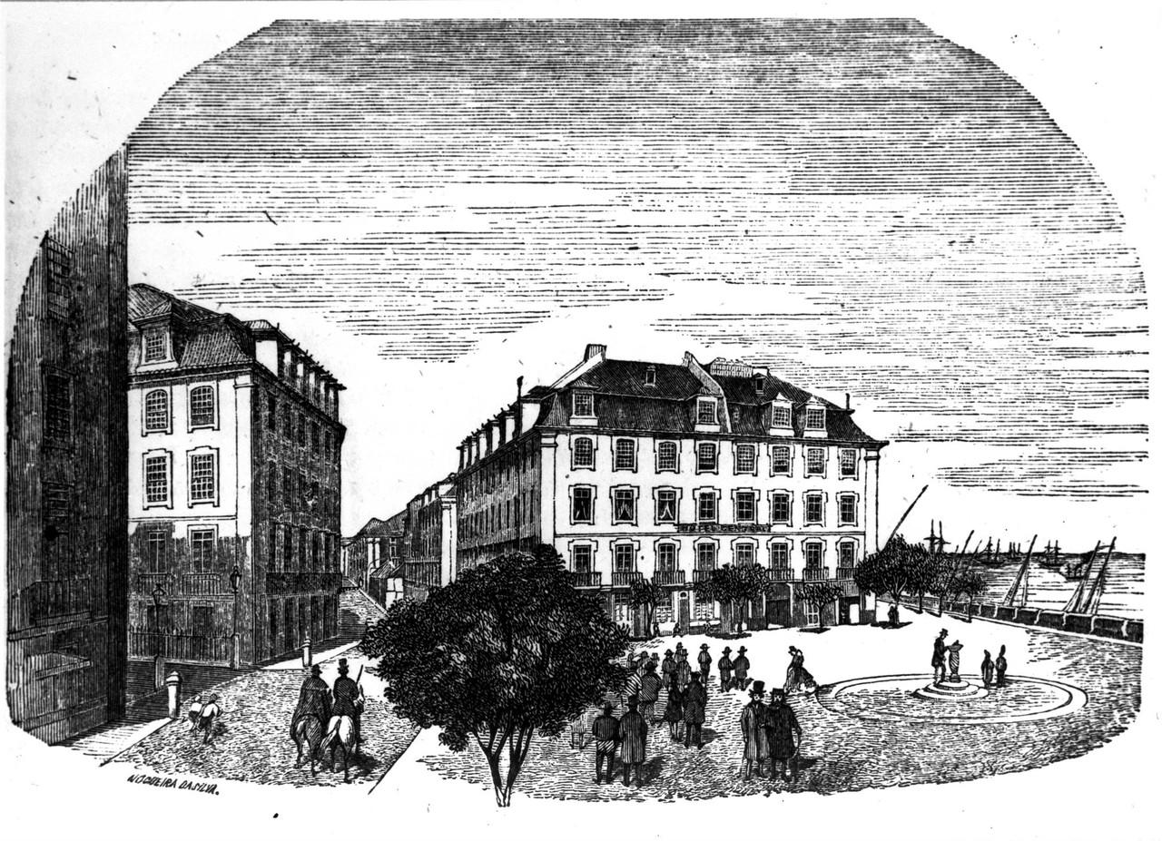 Praça Duque da Terceira, desenho de Nogueira da S