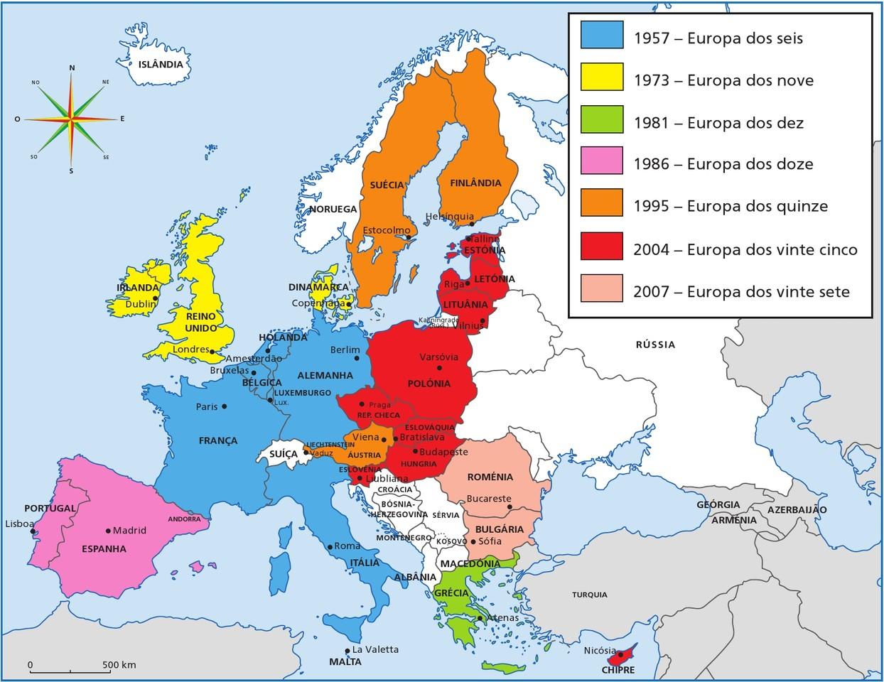 Mapa União Europeia 2007