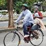 Bicicletas táxi imperam em Quelimane