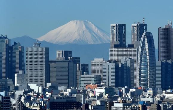 Monte Fuji e a cidade de Tóquio