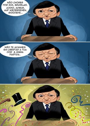 Cartoons - O adeus/despedida de Durão Barroso