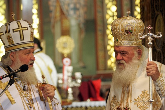 GREECE ARCHBISHOP IERONYMOS MOSCOW PATRIARCH KYRIL