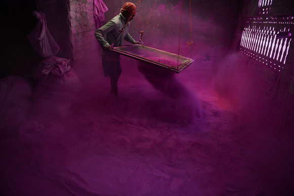 Pó Colorido, Festival Holi, Índia