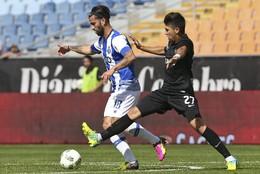 Sérgio Oliveira foge à marcação de Pedro Nuno