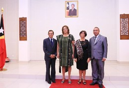 Os novos embaixadores com PR Taur Matan Ruak