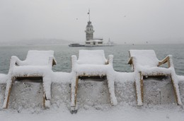Neve em Istambul, Turquia