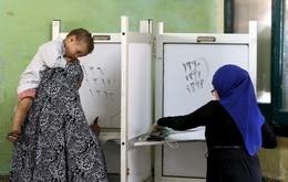 Voto eleitoral em Giza, Egito