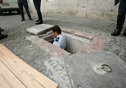 Entrada para a cisterna