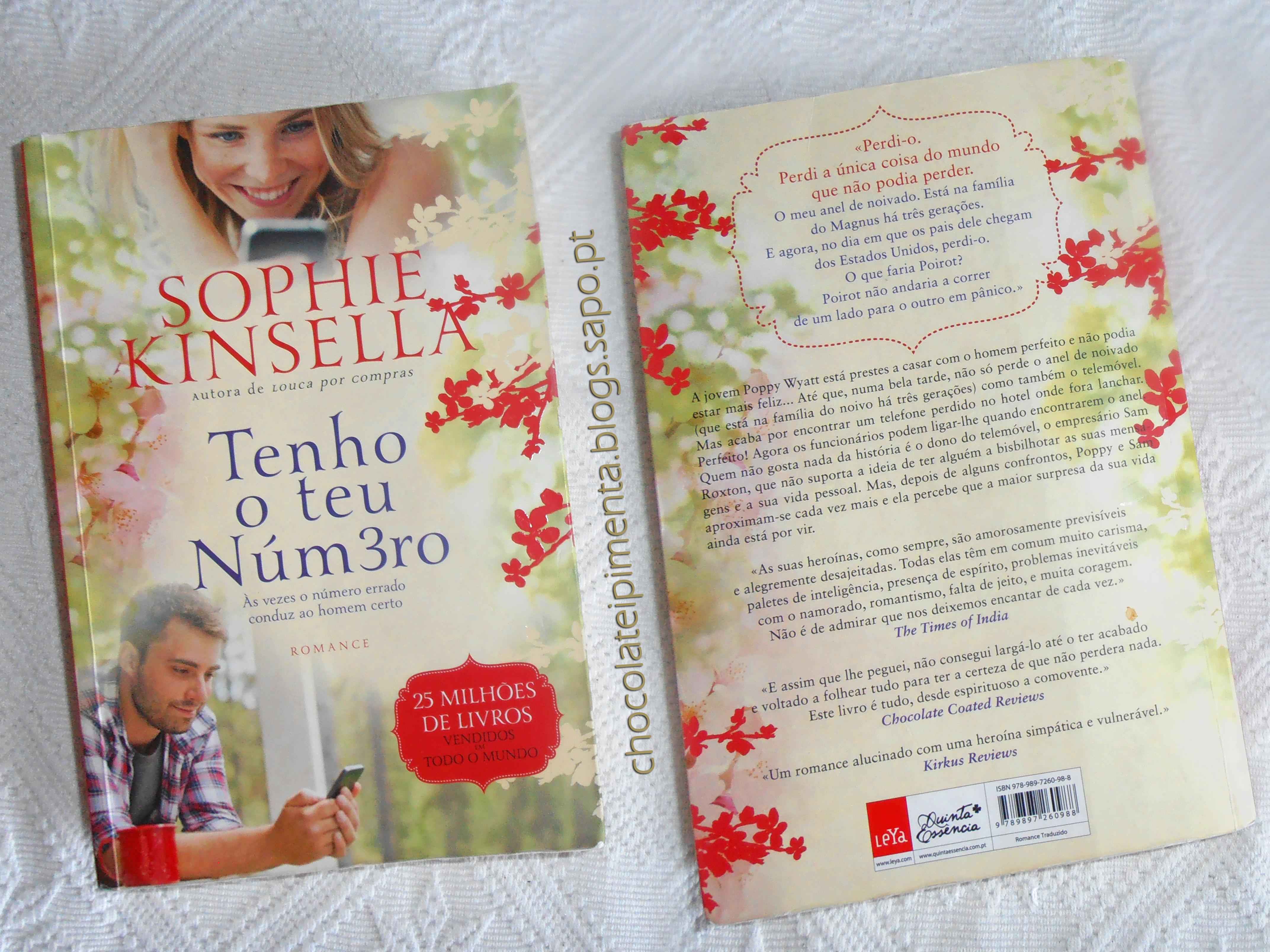 Tenho o teu número - Sophie Kinsella (capa e cont