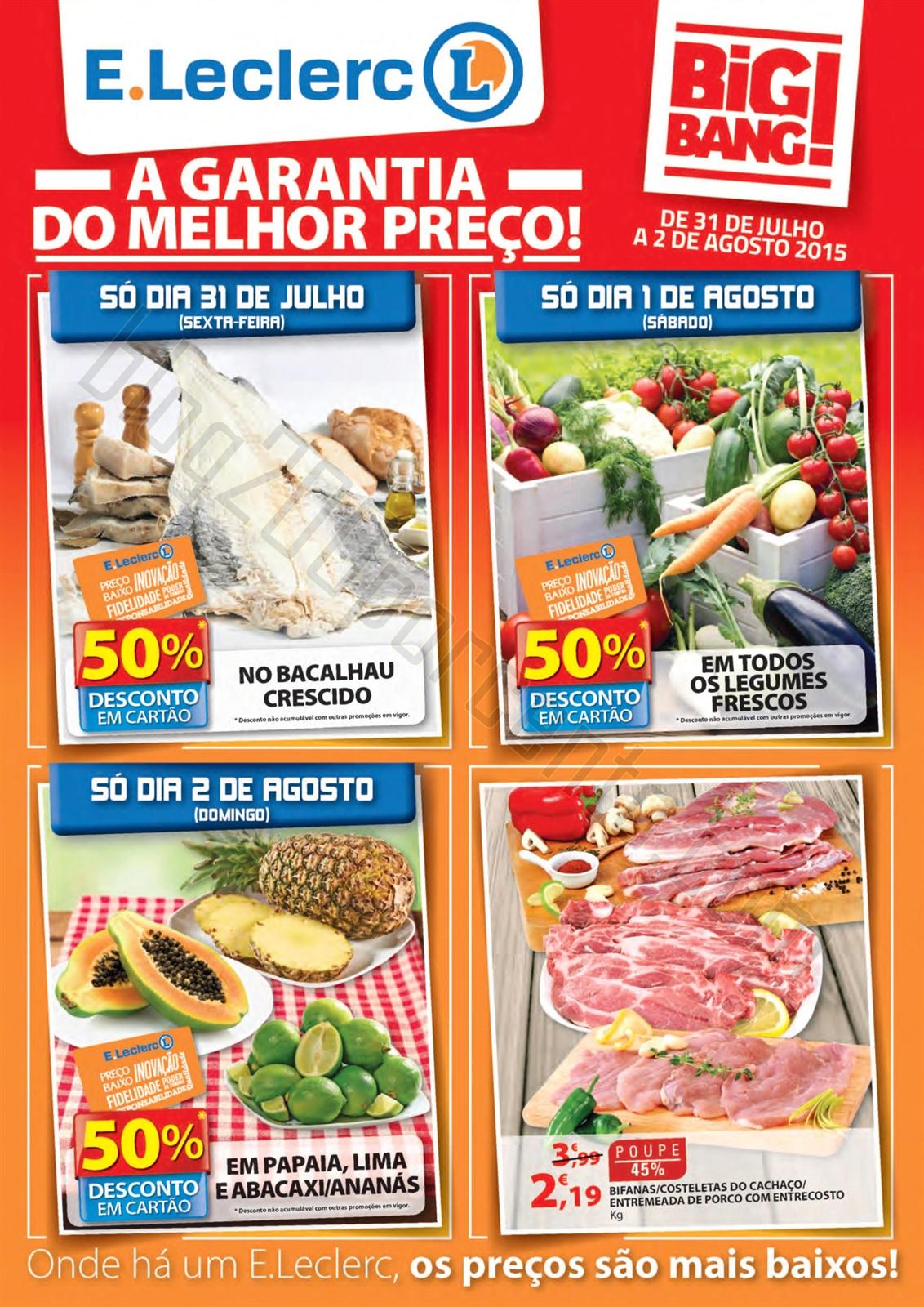 Antevisão Folheto E-LECLERC Fim de Semana de 31 j