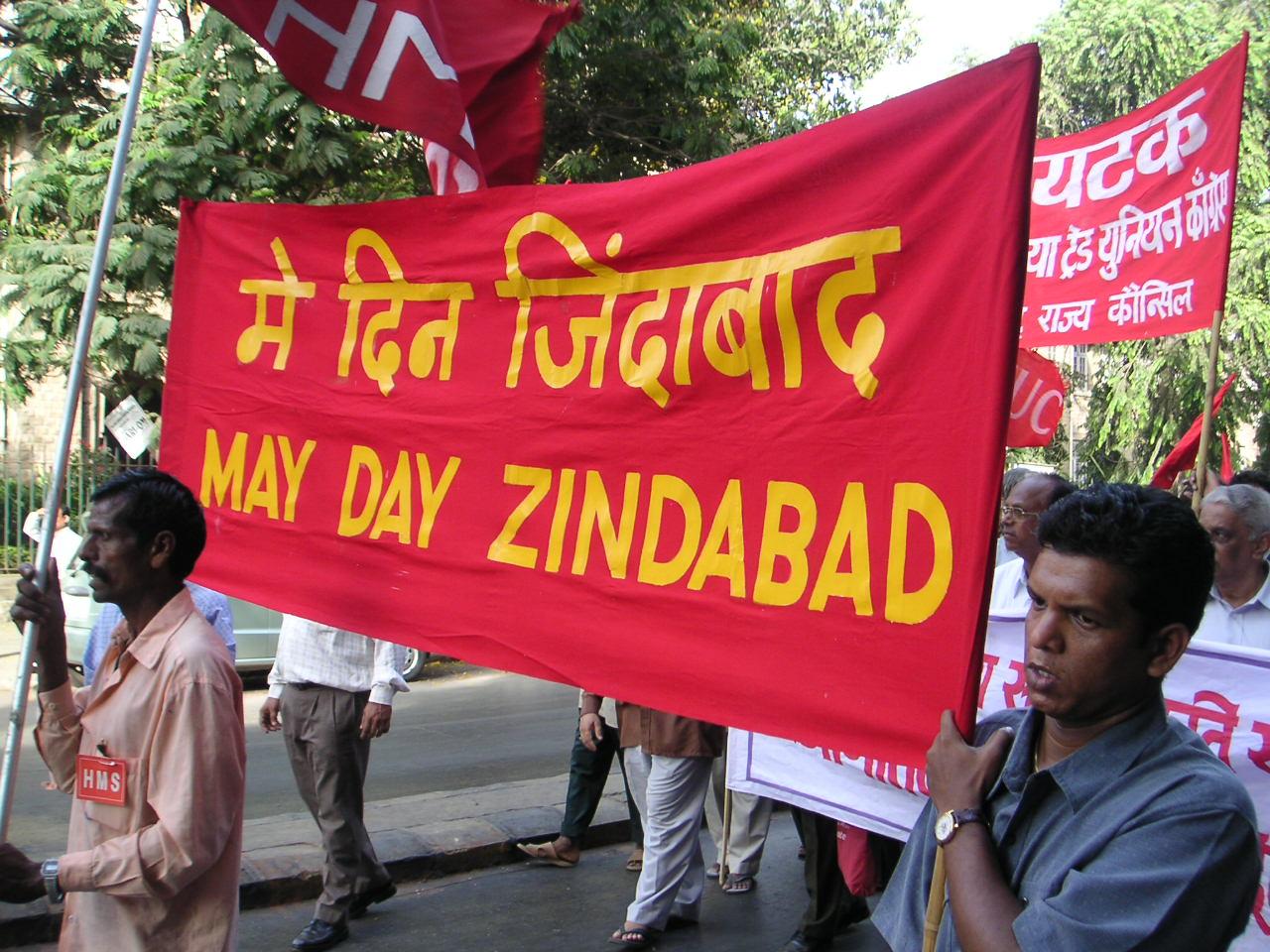 Dia do Trabalhador na cidade de Mumbai, na Índia.